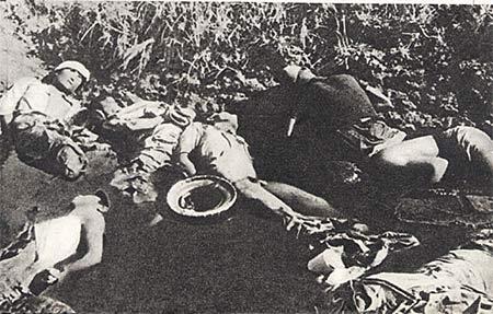 图文:集体杀戮被俘中国士兵的血池