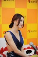 上海大众展台模特付曼妮、徐佳佳
