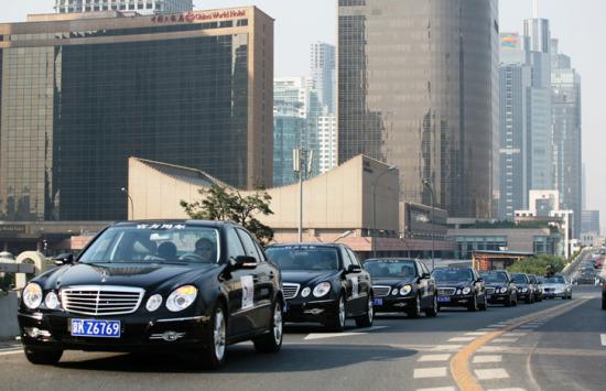 2008年北京奔驰赞助中网奔驰E级官方用车车队