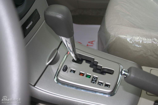 变速箱带有解锁按钮