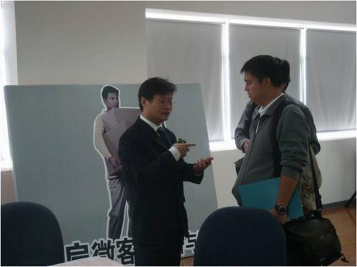 郑州日产汽车有限公司品牌广宣部部长郭红军先生与媒体专访上意犹未尽的记者热情互动