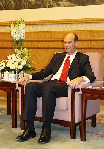 图为宝马集团大中华区总裁兼首席执行官史登科博士