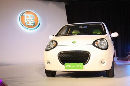 图为台湾版吉利熊猫Tobe的首款电动车Tobe M'car