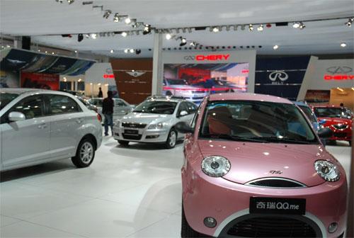 广州车展期间奇瑞携全系车型参展促销高清图片