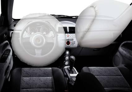 图为莲花L3的双安全气囊
