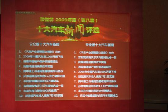 2009十大汽车新闻揭晓