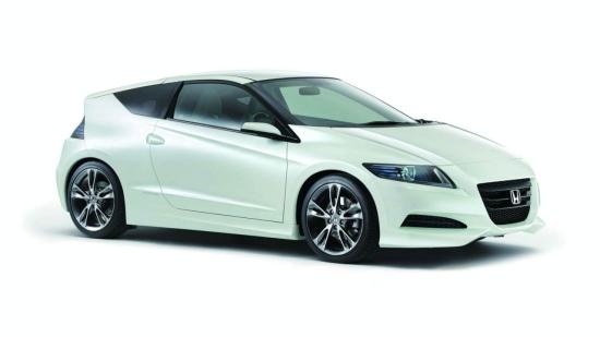 图为本田新款混合动力车CR-Z