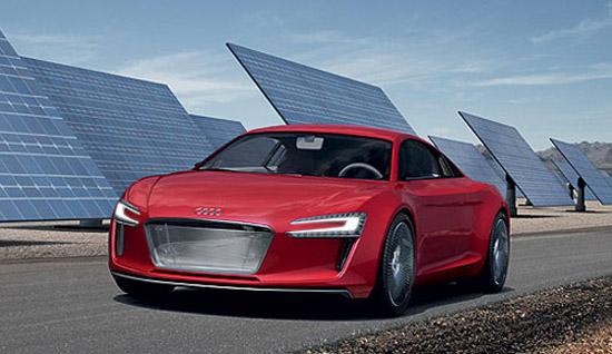 奥迪则会在北京车展上展出基于R8跑车开发的e-tron电动概念车
