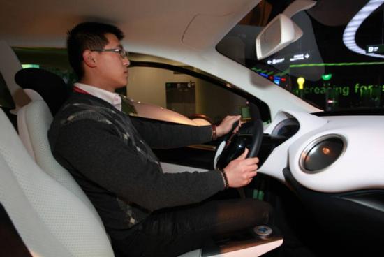 体验上汽纯电动概念车E1