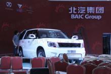 北京车展探馆北汽B90混动SUV重启北京牌新篇