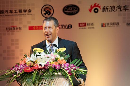 CEO圆桌访谈国际嘉宾组福特汽车集团全球副总裁、亚太和非洲区总裁Joe-Hinrichs先生发表主题演讲