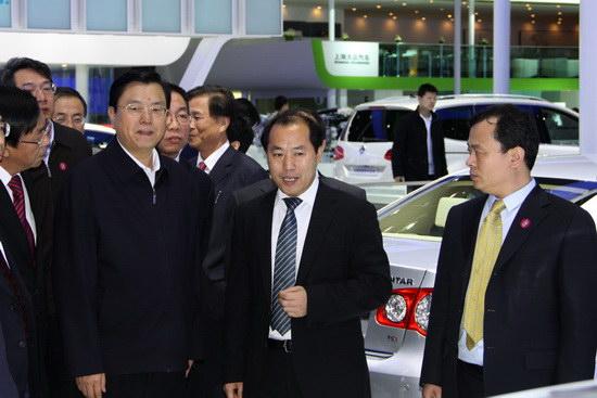 张德江副总理参观北京车展