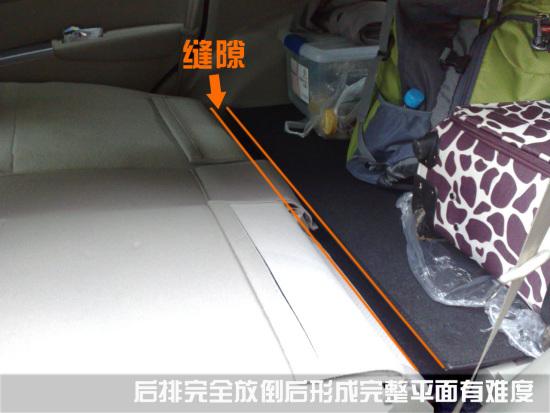 后座放倒后与行李箱缝隙