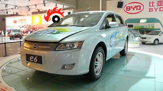 比亚迪E6纯电动轿车-比亚迪奔驰正式合资 新品牌产电动车高清图片