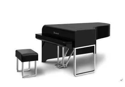 价值百万的奥迪音乐会三角钢琴