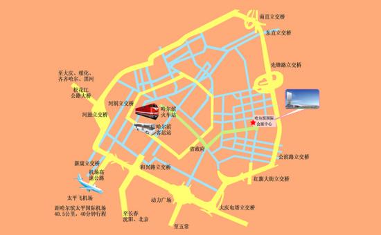 哈尔滨车展展馆位置图