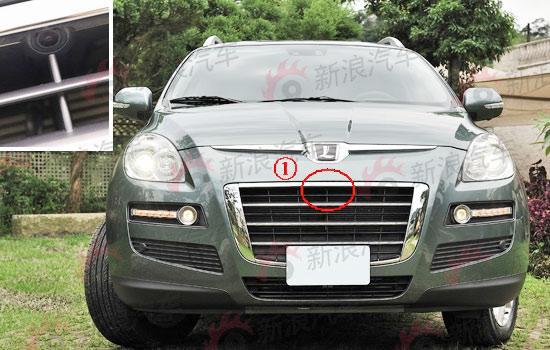 图为东风裕隆SUV隐藏的摄像头