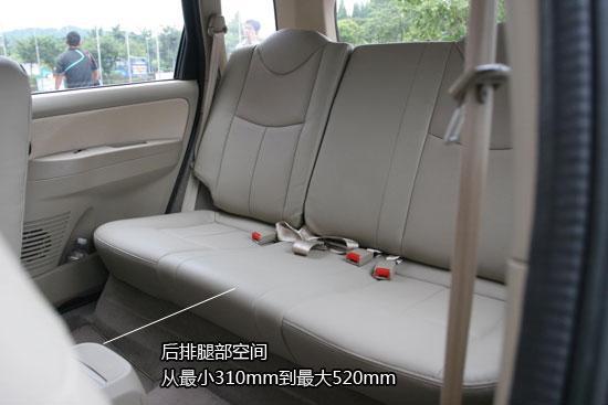 后排座椅测量
