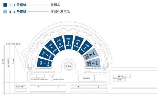 第十三届成都国际汽车展场馆分布图