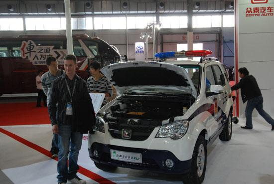 众泰5008EV亮相北京零部件展