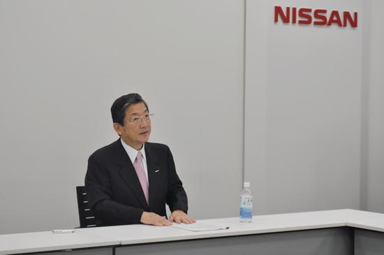 日产汽车公司首席运营官(COO)志贺俊之接受中国媒体采访