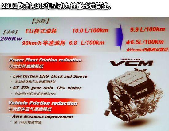 2011款雅阁3.5引擎改进图示