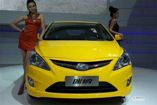 12月20日,北京现代瑞纳两厢版在广州车展全球首发上
