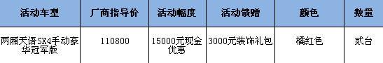 天语SX4两厢价格表