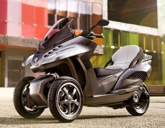 标致混合动力三轮摩托HYbird3 Evolution