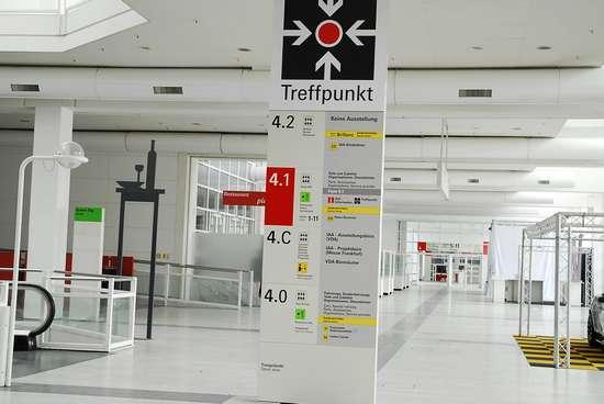 2011法兰克福车展新浪展台搭建完毕