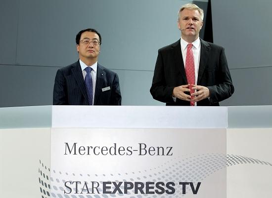 奔驰销售和市场营销执行副总裁郝博与北京奔驰销售与市场执行副总裁付强