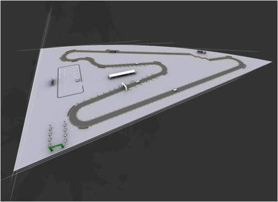 图为2011宝骏汽车V型弯挑战赛全国总决赛赛道示意图