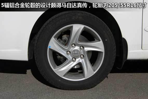 五辐16寸铝合金轮毂配205mm宽度轮胎