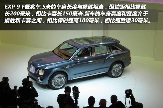 宾利EXP 9 F概念车亮相日内瓦车展