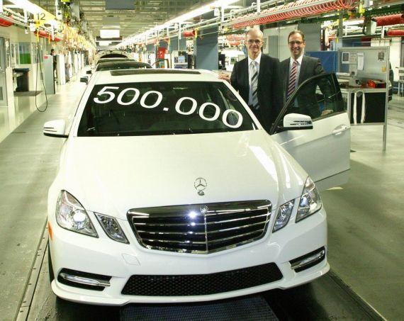 第50万辆奔驰E级W212在德国下线