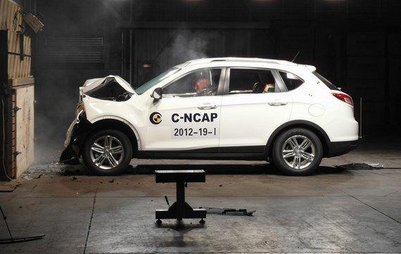 传祺GS5 C-NCAP碰撞