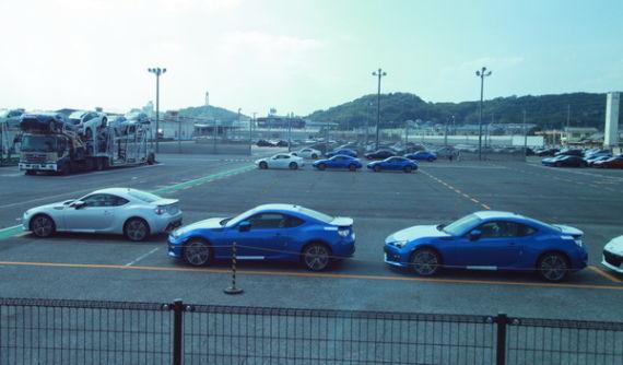 准备送往全球市场的BRZ,GT86,FR-S,有不少是左舵车