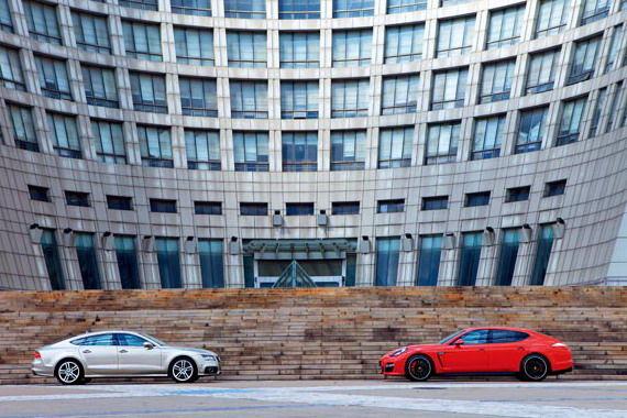 奥迪A7 Sportback & 保时捷Panamera GTS