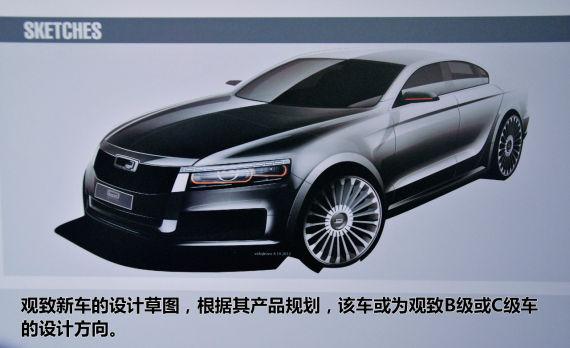 观致新车设计草图