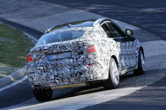 2014款宝马(BMW)X4路测谍照现身纽博格林测试赛道