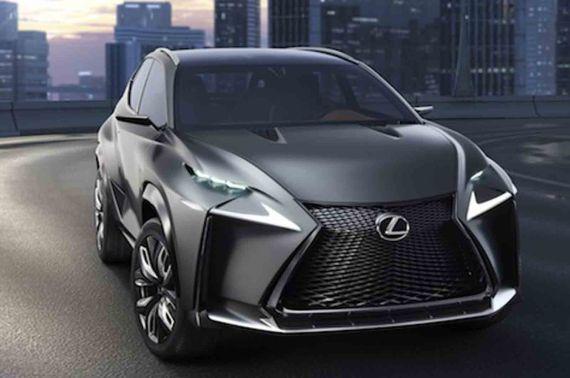 雷克萨斯涡轮增压版LF-NX概念车