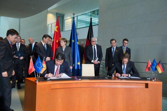 大众汽车集团(中国)与上汽集团、一汽集团签署协议