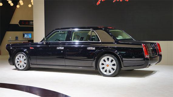 红旗L5亮相2014北京车展,预售价500万元起。