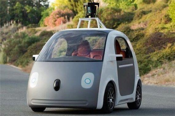 传说中的谷歌未来汽车(假想图)