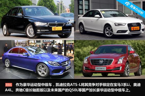 凯迪拉克ATS-L将其竞争对手锁定在宝马3系Li等国产加长豪华运动型中级车上