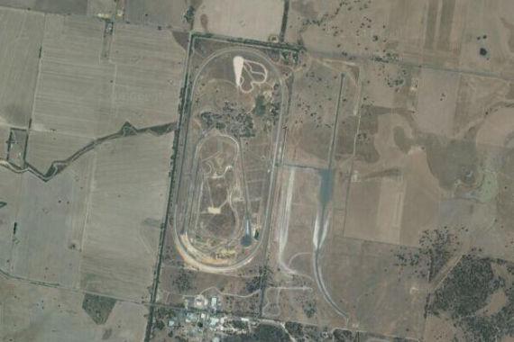 卫星图上的尤杨斯山测试场