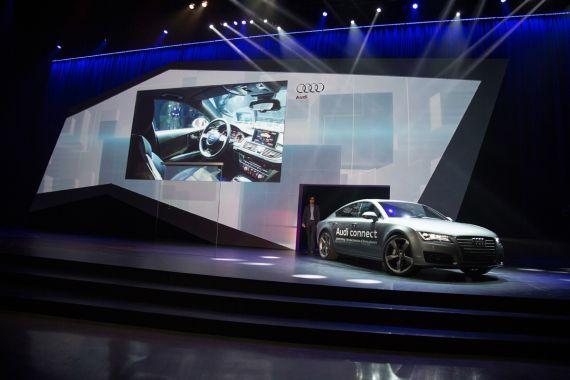 2014CES上 搭载Tegra处理器的奥迪无人驾驶概念车