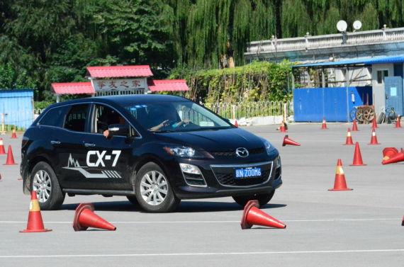 国产马自达CX-7深度试驾活动现场