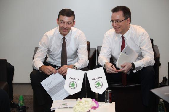 斯柯达汽车负责市场销售的董事会成员安世豪