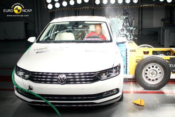 大众帕萨特获Euro-NCAP五星安全评级